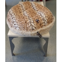 Bessie and Barnie Bagel Bed, Blondy snow leopard