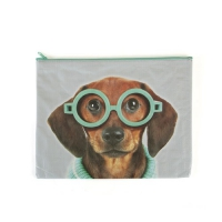 Glasses Dog A4 Pouch