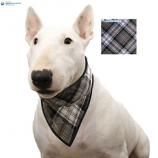 Aqua Coolkeeper Cooling Pet Bandana Scottish Grey