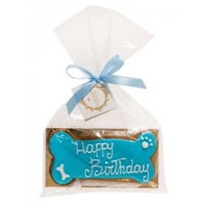 Hondentaart BIRTHDAY Bone Blue