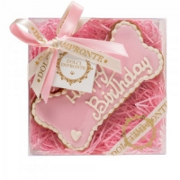 Dolcimpronte HONDENTAART HAPPY BIRTHDAY Bone Pink