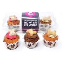 The Barking Bakery Trio MINI iced Muffins