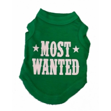 Honden T-shirt Most Wanted, Groen