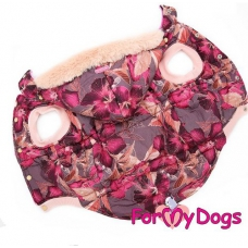 FOR MY DOGS Hondenjas Burgundy for Pug and Frenchie