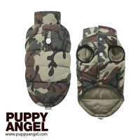 PUPPY ANGEL Military Quilted Padded vest