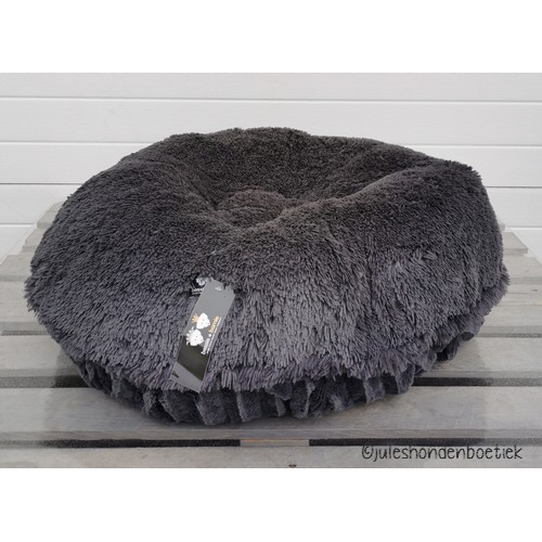 Bessie and Barnie Bagel Bed, Gravelstone-Wolfhound grey