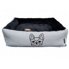 Hondenmand Frenchie Grey