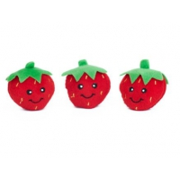 ZippyPaws Miniz 3-Pack Strawberry