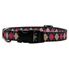 Yellow Dog Design halsband Pink argyl