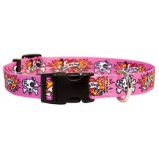 Yellow Dog tattoo pink halsband